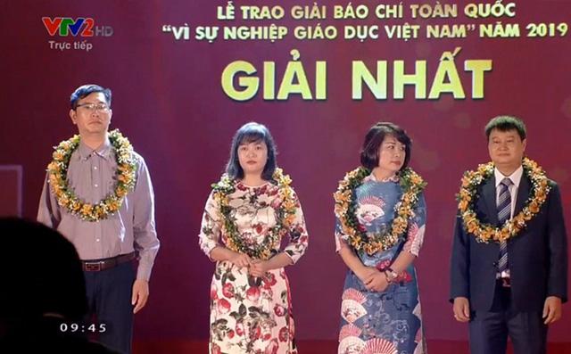 VTV giành 4 giải báo chí toàn quốc Vì sự nghiệp giáo dục Việt Nam 2019 - Ảnh 1.