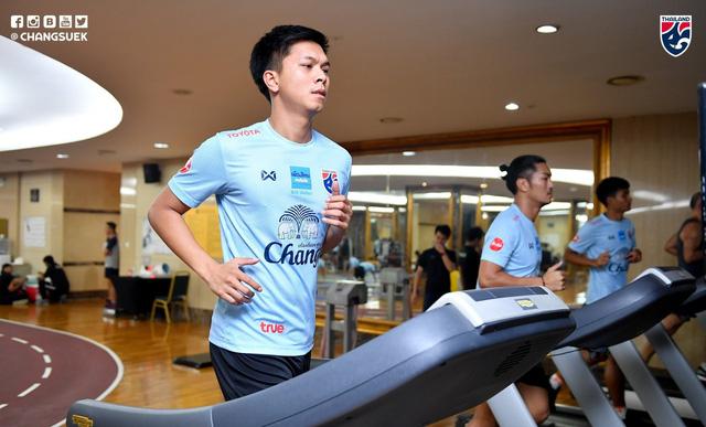 ĐT Thái Lan tích cực tập luyện ngay sau khi tới Hà Nội - Ảnh 3.