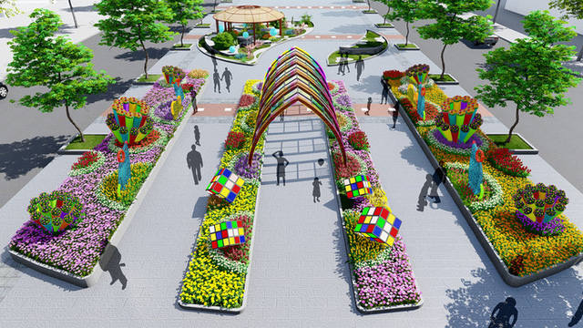 Nhiều tạo hình độc đáo ở đường hoa Nguyễn Huệ Tết Canh Tý 2020 - Ảnh 6.