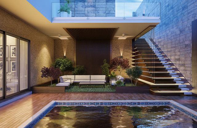 Ngôi nhà phố sở hữu hồ bơi tuyệt đẹp nằm ngay trong nhà - Ảnh 1.