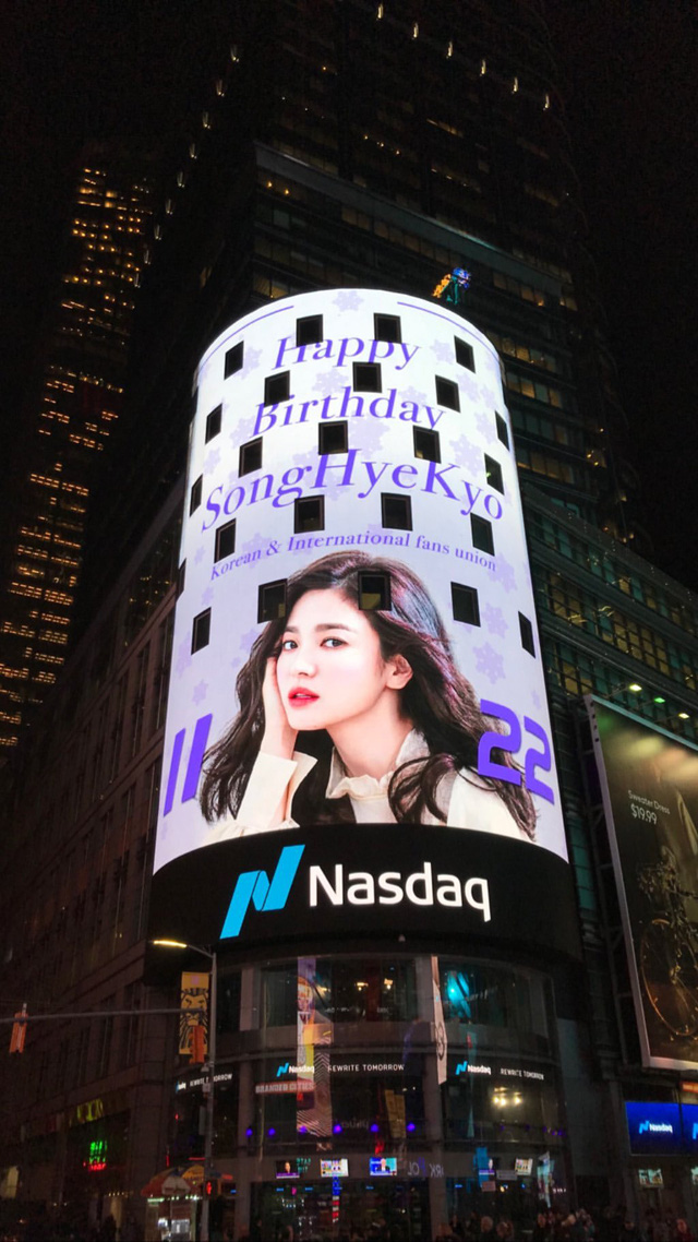Song Hye Kyo xúc động vì lời chúc sinh nhật của fan - Ảnh 2.