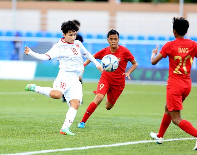 ẢNH: Thắng thuyết phục ĐT nữ Indonesia, ĐT nữ Việt Nam giành quyền vào bán kết SEA Games 30 - Ảnh 5.