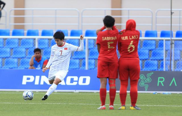ẢNH: Thắng thuyết phục ĐT nữ Indonesia, ĐT nữ Việt Nam giành quyền vào bán kết SEA Games 30 - Ảnh 3.