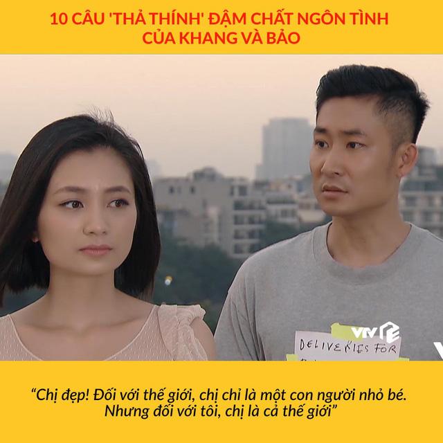 Những màn thả thính ngọt lịm của Khang và Bảo trong Hoa hồng trên ngực trái - Ảnh 4.