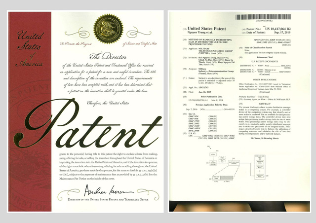 Ứng dụng trong hệ thống tính cước thời gian thực của Viettel được cấp bằng bảo hộ độc quyền tại Mỹ - Ảnh 1.