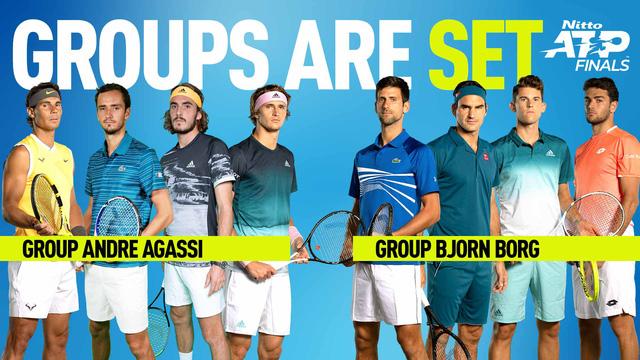 Kết quả bốc thăm chia bảng ATP Finals 2019: Djokovic, Federer chung bảng - Ảnh 2.