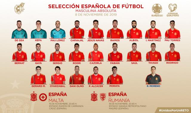 ĐT Tây Ban Nha có màn công bố đội hình độc đáo - Ảnh 3.
