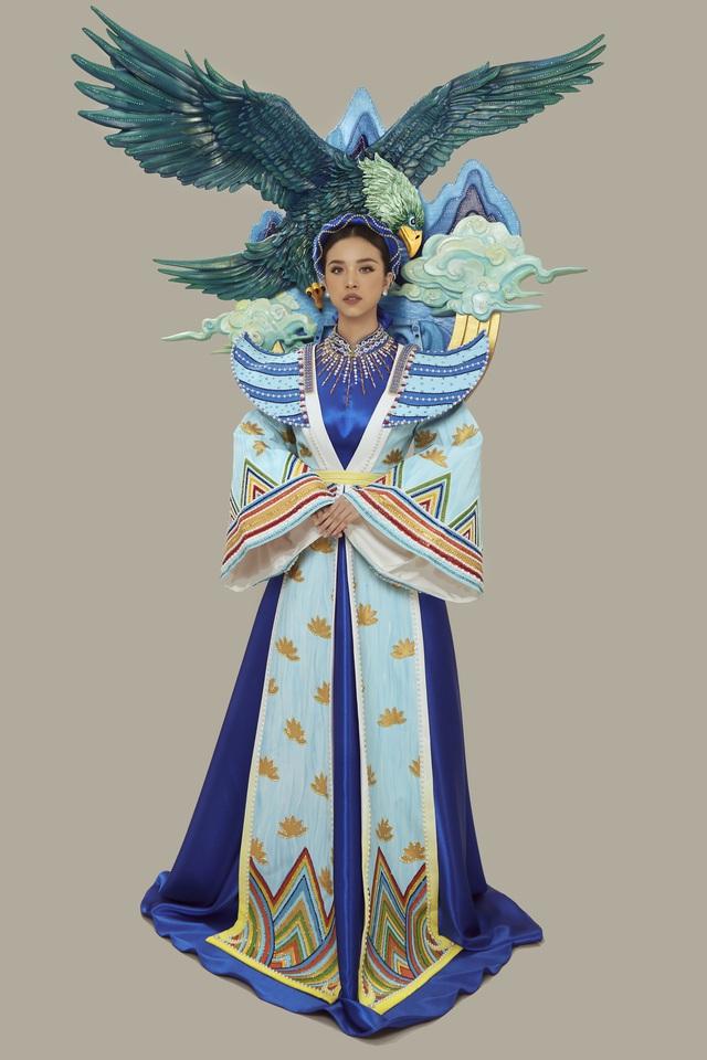 Chính thức công bố quốc phục của Á hậu Thúy An tại Miss Intercontinental 2019 - Ảnh 2.