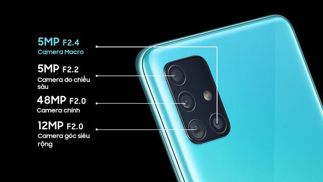Samsung ra mắt Galaxy A51: Màn hình đục lỗ, 4 camera sau, giá chỉ 7,99 triệu đồng - Ảnh 2.