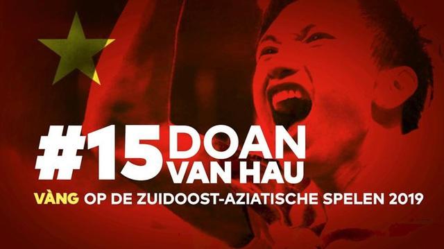 Đoàn Văn Hậu được CLB Heerenveen vinh danh với tấm HCV cùng U22 Việt Nam - Ảnh 2.