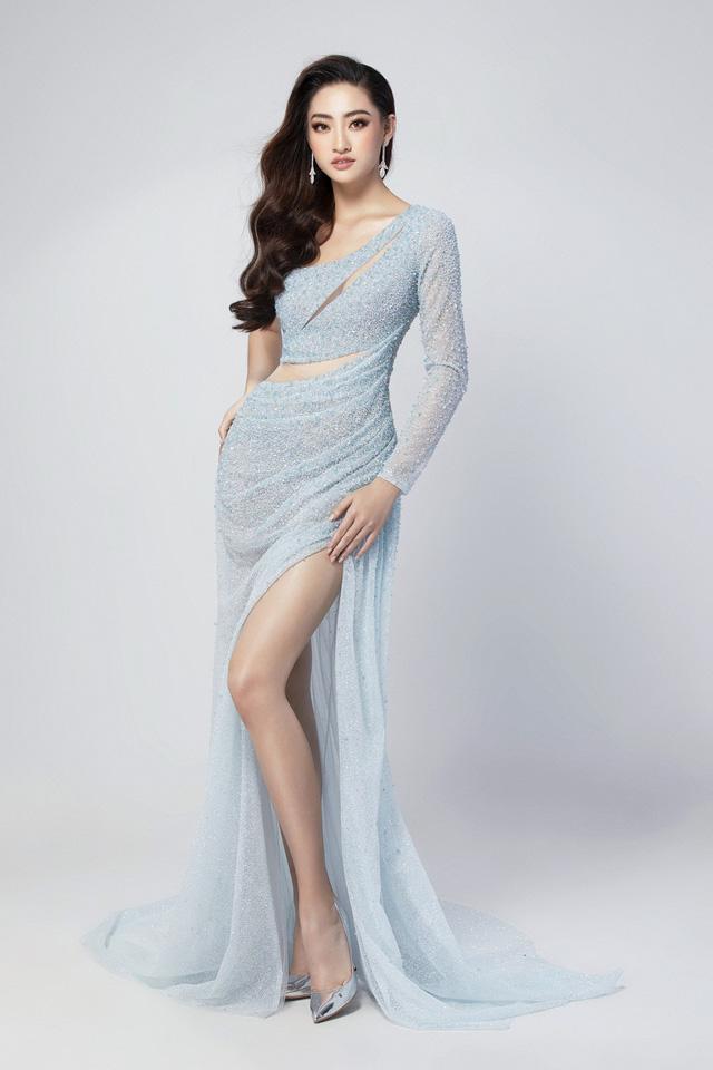 Hé lộ đầm dạ hội của Lương Thùy Linh trước giờ G chung kết Miss World 2019 - Ảnh 2.