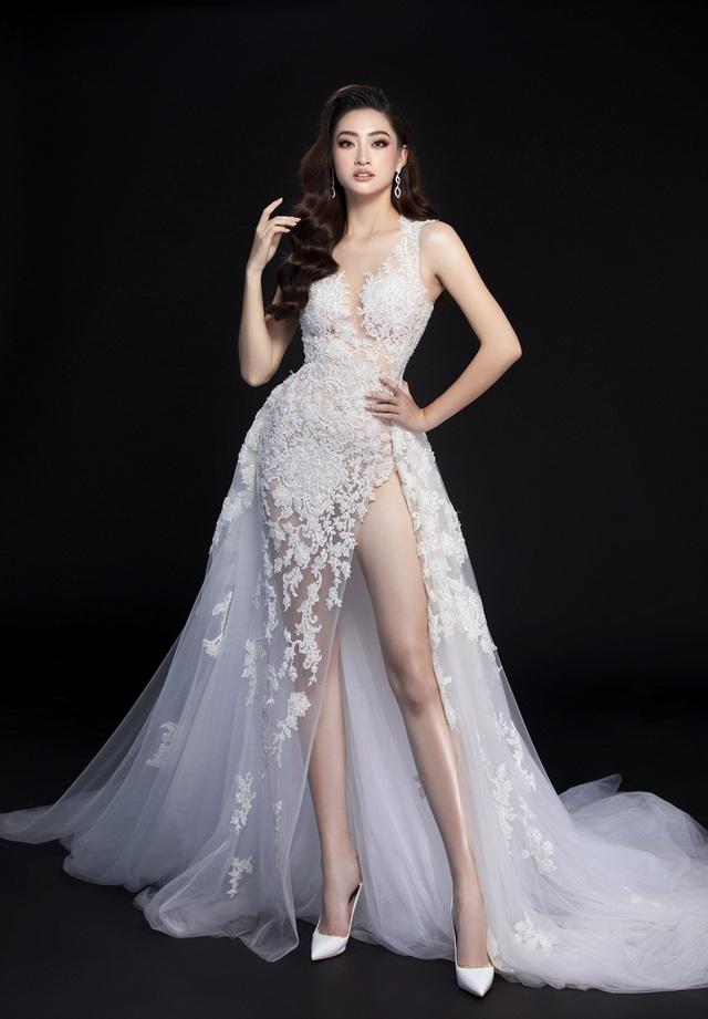 Hé lộ đầm dạ hội của Lương Thùy Linh trước giờ G chung kết Miss World 2019 - Ảnh 1.