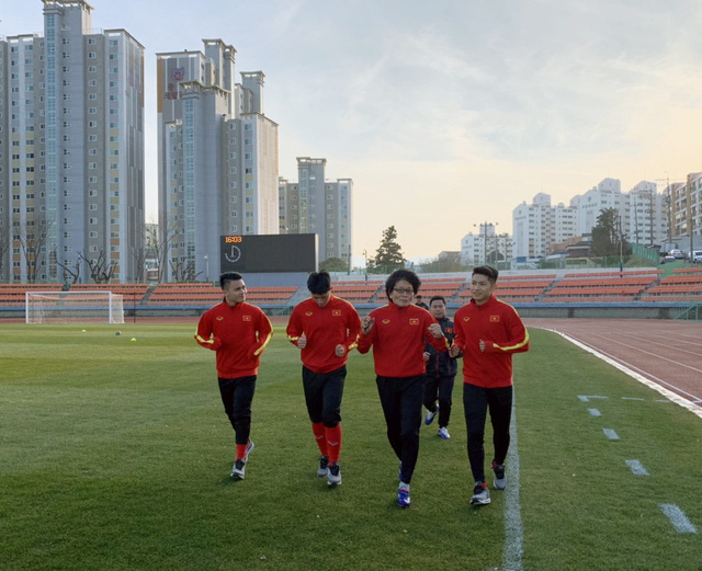 ĐT U23 Việt Nam bước vào buổi tập đầu tiên tại Hàn Quốc - Ảnh 1.