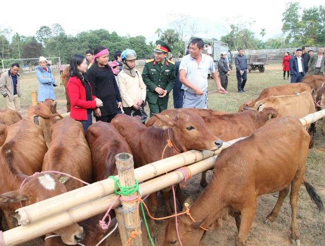 Viettel trao tặng bò giống cho hộ nghèo trong khuôn khổ chương trình 30A của Chính phủ - Ảnh 2.