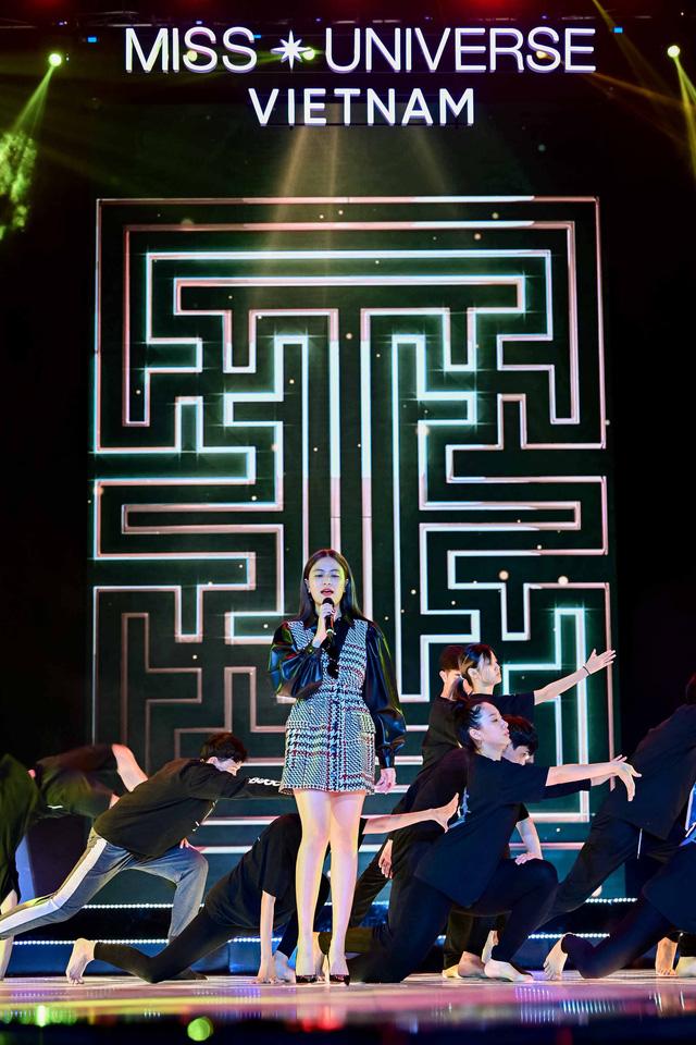 Hoàng Thùy Linh, Ali Hoàng Dương hăng say tập tổng duyệt Bán kết Hoa hậu Hoàn vũ 2019 - Ảnh 7.