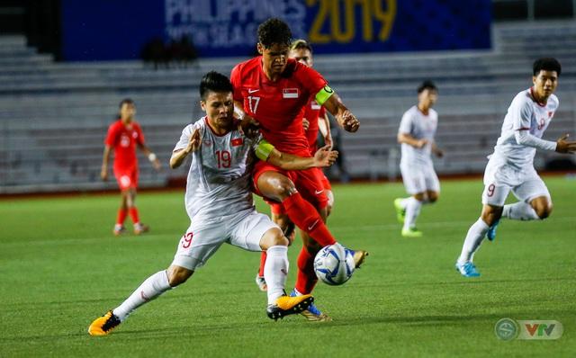 ẢNH: Đức Chinh toả sáng phút cuối, U22 Việt Nam thắng kịch tính U22 Singapore - Ảnh 6.