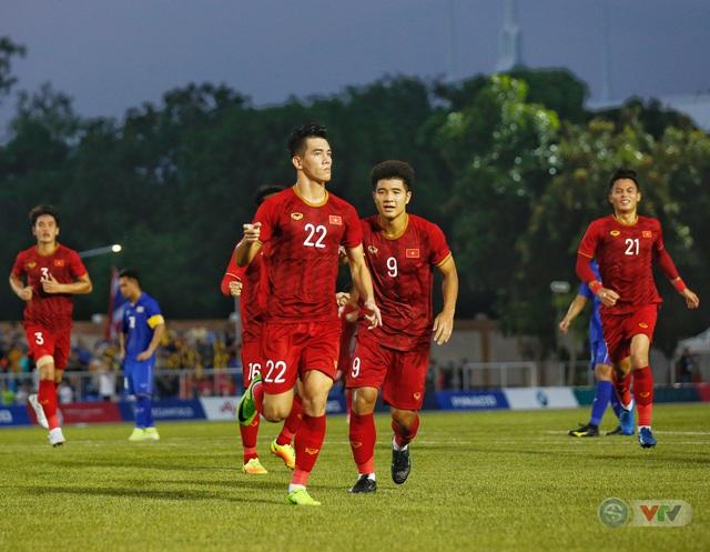 ẢNH: U22 Việt Nam loại U22 Thái Lan, thẳng tiến vào bán kết SEA Games 30 - Ảnh 14.