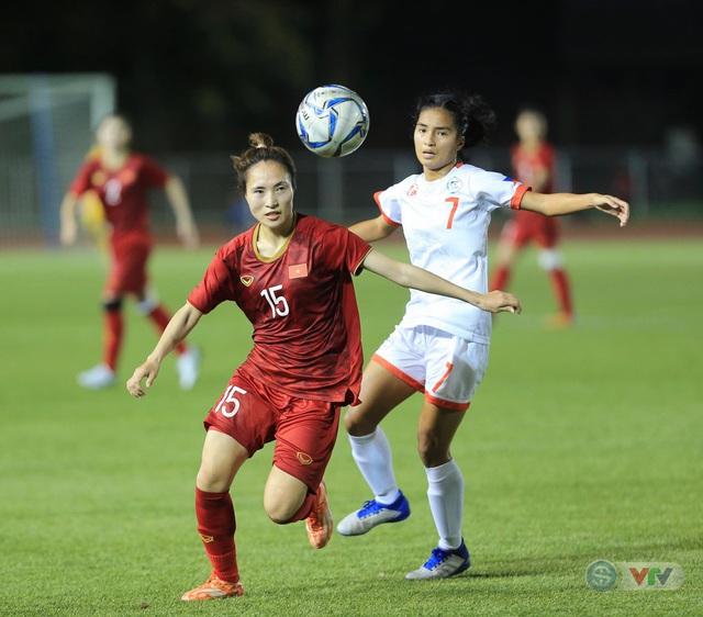 ẢNH: ĐT nữ Việt Nam thi đấu kiên cường, thắng thuyết phục ĐT nữ Phillipines để tiến vào chung kết SEA Games 30 - Ảnh 2.