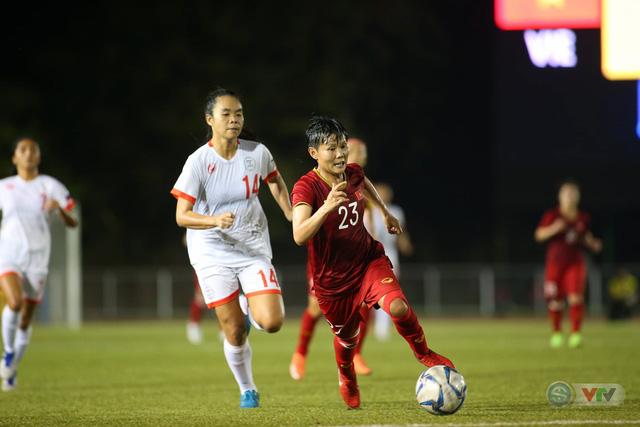 ẢNH: ĐT nữ Việt Nam thi đấu kiên cường, thắng thuyết phục ĐT nữ Phillipines để tiến vào chung kết SEA Games 30 - Ảnh 9.