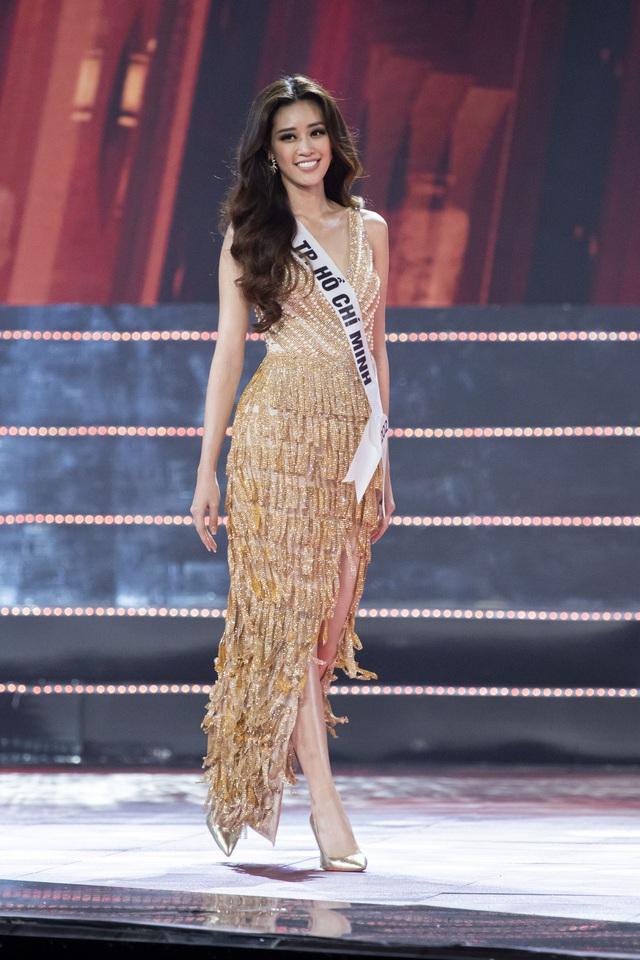 Top 10 Hoa hậu Hoàn vũ Việt Nam khoe sắc với trang phục dạ hội - Ảnh 7.