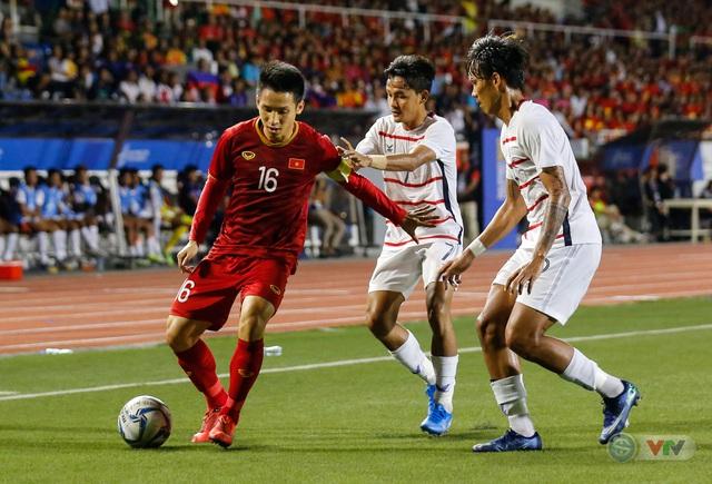 ẢNH: Những khoảnh khắc ấn tượng trong chiến thắng của U22 Việt Nam trước U22 Campuchia - Ảnh 7.