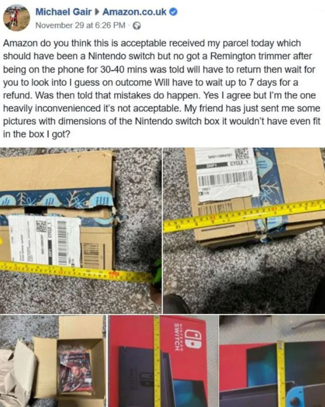 Amazon xin lỗi sau sự cố giao nhầm đồ trong dịp Black Friday - Ảnh 1.