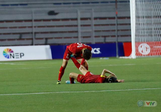 ẢNH: ĐT nữ Việt Nam thắng kịch tính trước Thái Lan, giành HCV bóng đá nữ SEA Games 30 - Ảnh 13.