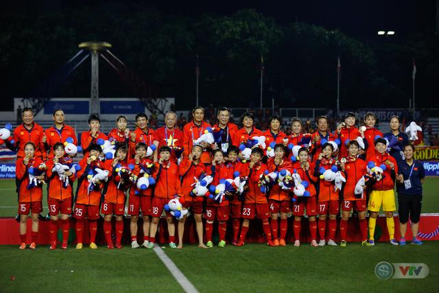 ẢNH: ĐT nữ Việt Nam thắng kịch tính trước Thái Lan, giành HCV bóng đá nữ SEA Games 30 - Ảnh 21.