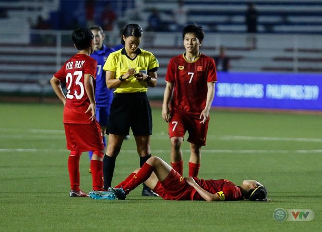 ẢNH: ĐT nữ Việt Nam thắng kịch tính trước Thái Lan, giành HCV bóng đá nữ SEA Games 30 - Ảnh 5.