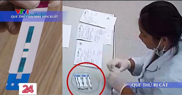 Hàng nghìn que thử HIV, viêm gan B bị cắt đôi trước khi tiến hành xét nghiệm - Ảnh 1.
