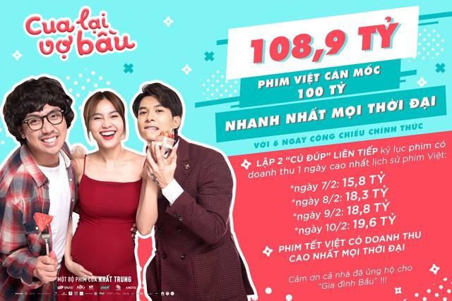 Cua lại vợ bầu - Phim Việt cán mốc 100 tỷ đồng nhanh nhất mọi thời đại - Ảnh 1.