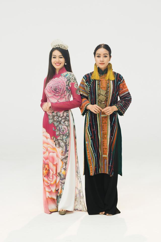 MC Phí Linh, Hồng Nhung diện các mẫu áo dài trong 100 năm qua - Ảnh 32.