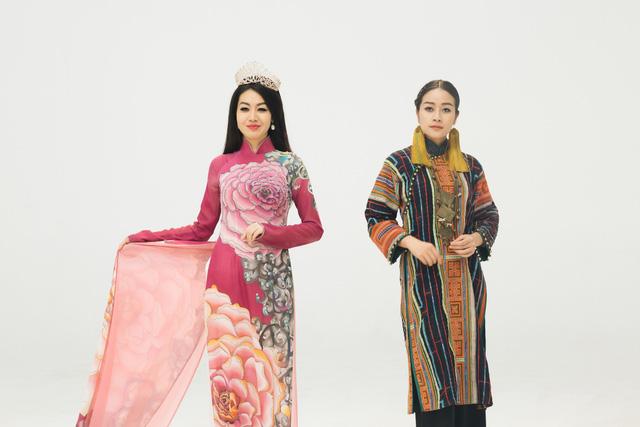 MC Phí Linh, Hồng Nhung diện các mẫu áo dài trong 100 năm qua - Ảnh 33.