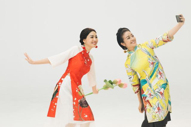 MC Phí Linh, Hồng Nhung diện các mẫu áo dài trong 100 năm qua - Ảnh 34.