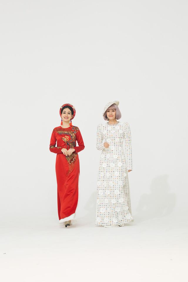 MC Phí Linh, Hồng Nhung diện các mẫu áo dài trong 100 năm qua - Ảnh 37.