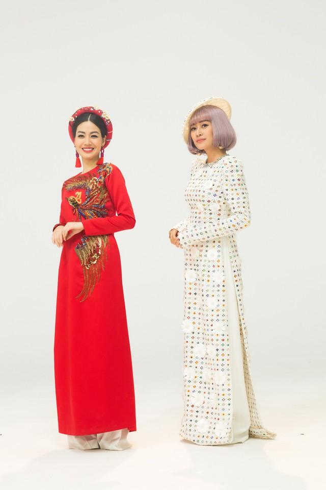 MC Phí Linh, Hồng Nhung diện các mẫu áo dài trong 100 năm qua - Ảnh 36.
