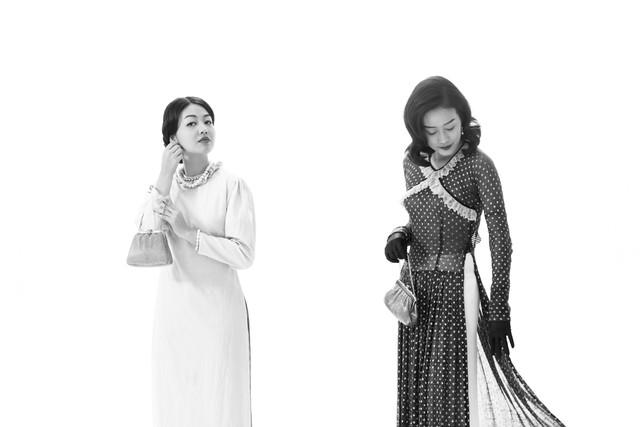 MC Phí Linh, Hồng Nhung diện các mẫu áo dài trong 100 năm qua - Ảnh 8.