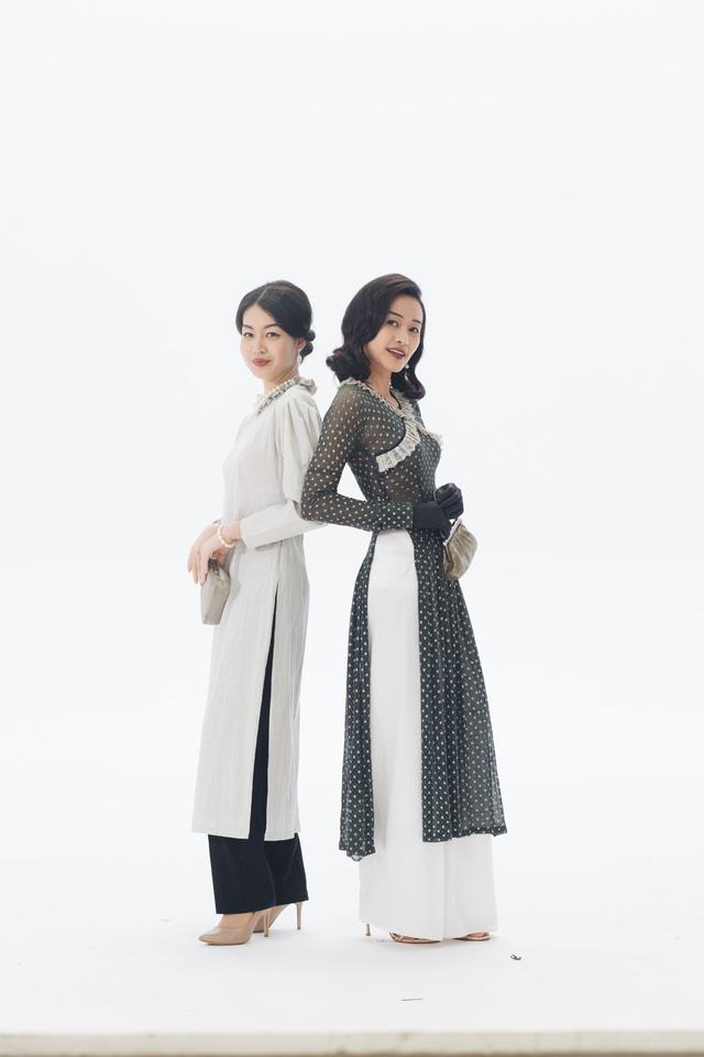 MC Phí Linh, Hồng Nhung diện các mẫu áo dài trong 100 năm qua - Ảnh 7.