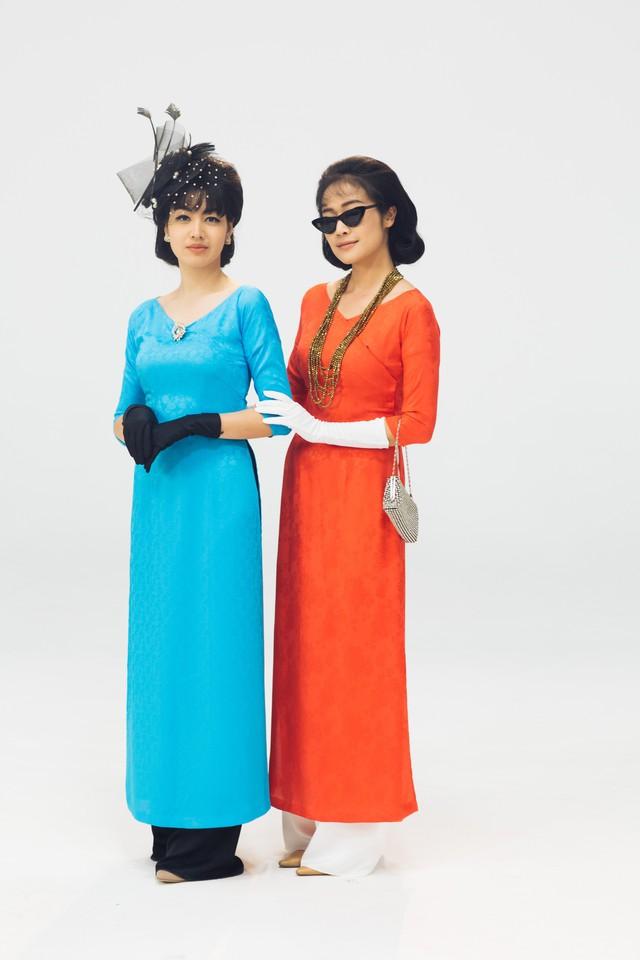 MC Phí Linh, Hồng Nhung diện các mẫu áo dài trong 100 năm qua - Ảnh 19.