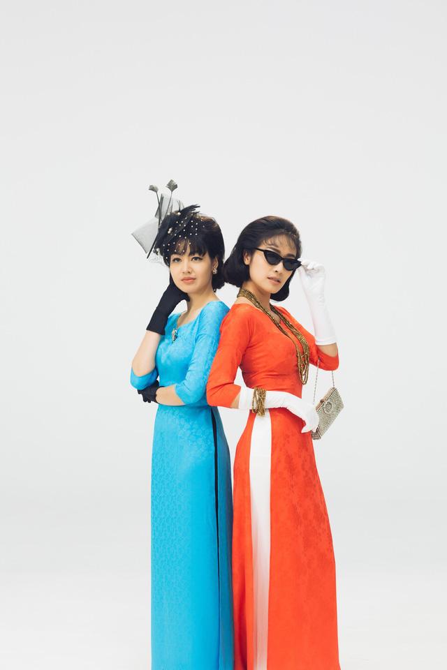 MC Phí Linh, Hồng Nhung diện các mẫu áo dài trong 100 năm qua - Ảnh 18.