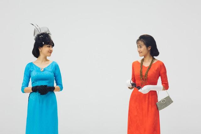 MC Phí Linh, Hồng Nhung diện các mẫu áo dài trong 100 năm qua - Ảnh 15.