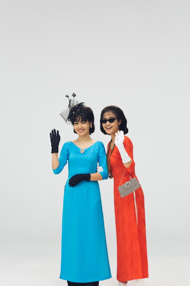MC Phí Linh, Hồng Nhung diện các mẫu áo dài trong 100 năm qua - Ảnh 16.