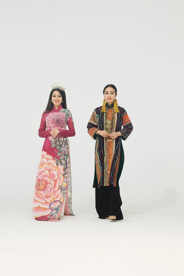 MC Phí Linh, Hồng Nhung diện các mẫu áo dài trong 100 năm qua - Ảnh 31.