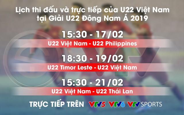 Lịch thi đấu và trực tiếp U22 Việt Nam tại Giải U22 Đông Nam Á 2019 - Ảnh 1.