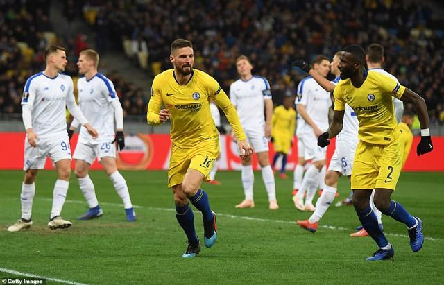 Kết quả lượt về vòng 1/8 Europa League: Arsenal, Chelsea vào tứ kết với những chiến thắng đậm - Ảnh 2.