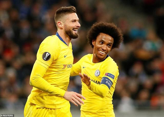 Kết quả lượt về vòng 1/8 Europa League: Arsenal, Chelsea vào tứ kết với những chiến thắng đậm - Ảnh 4.
