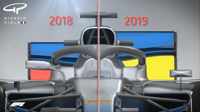Đua xe F1: Những thay đổi cơ bản về thiết kế xe ở mùa giải công thức 1 năm 2019 - Ảnh 3.