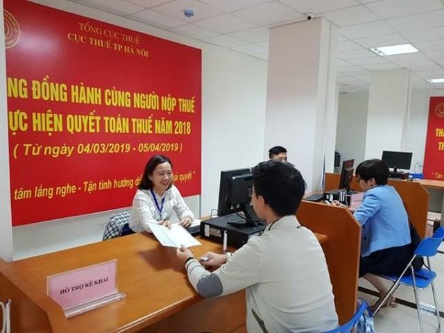 Cục Thuế Hà Nội chạy nước rút trong mùa quyết toán thuế - Ảnh 1.