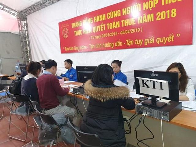 Cục Thuế Hà Nội chạy nước rút trong mùa quyết toán thuế - Ảnh 2.