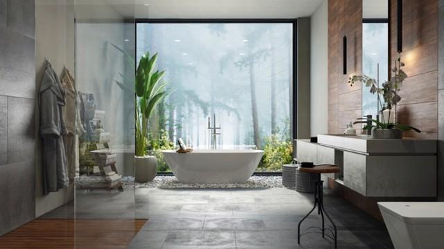 Mẫu thiết kế phòng tắm mở khiến bạn mê mẩn - Ảnh 2.